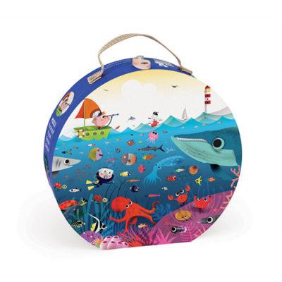 Janod Hat Box Puzzle-Underwater World
