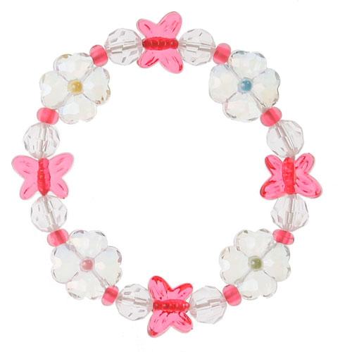 Ab Butterfly Flower Bracelet