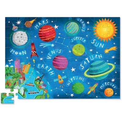 "Crocodile Creek Space Exploration 72 piece Junior Jigsaw Puzzle 14"" x 19"""