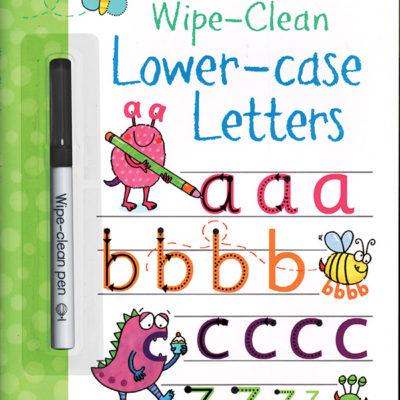 Wipe-Clean, Lower-Case Letters
