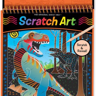 Dinosaurs Color-Reveal Scratch Art Pad
