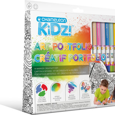 Chameleon Kidz! Art Portfolio 14 Marker Creativity Kit