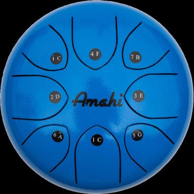 """Steel Tongue Drum - 8"""" Blue"""