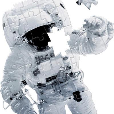 Astronaut Shaped Giant Floor Puzzle - 36 pcs