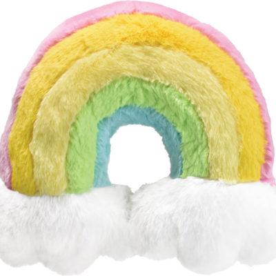 Iscream Furry Rainbow Neck Pillow