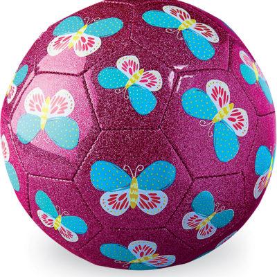 """Glitter Soccer Ball Size 3, 7"""" - Butterfly"""