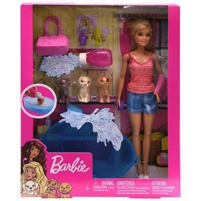 Mattel Blitz Barbie Doll and Puppy Bath Accessories