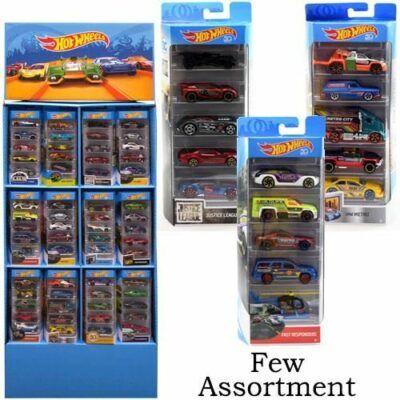 Mattel Hot Wheels 5-Pack Floorstand 36 pc