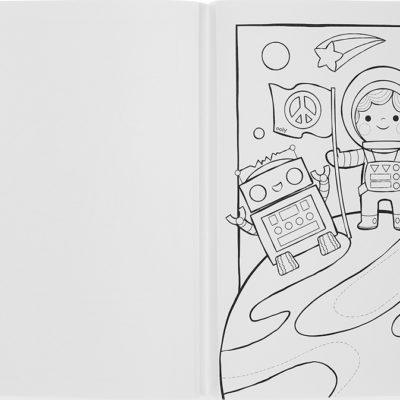 Color-in Book: Outerspace Exp