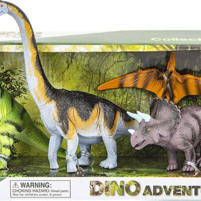 4 Pc Dinosaur Set