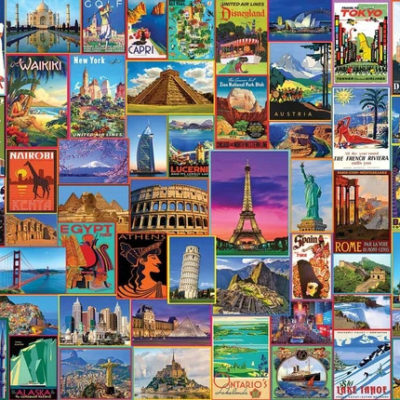 Best Places in the World-1000 Piece Puzzle-White Mountain Puzzles