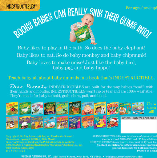 Indestructibles: Baby Animals: Chew Proof · Rip Proof · Nontoxic · 100% Washable (Book for Babies, Newborn Books, Safe to Chew)