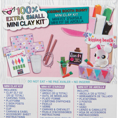 100% Extra Small Mini Clay Kit - Bunny Kissing Booth