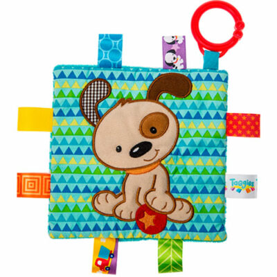 """Taggies Crinkle Me Brother Puppy-6.5x6.5"""""""