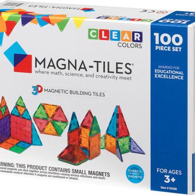 Magna-Tiles® Clear Colors 100 Piece Set