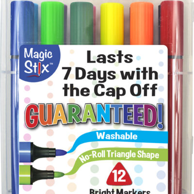 Magic Tri Stix 12 Color Cap Off For 7 Days