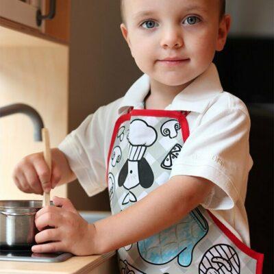 Colour-an-apron Chef